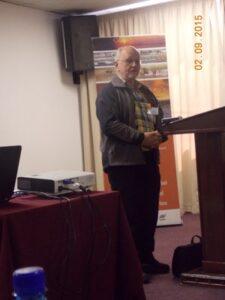 Dr Joh Henschel welcomes delegates